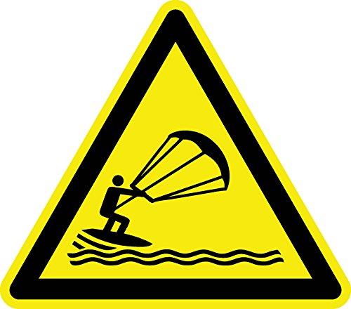 Warnzeichen - Warnung vor Kitesurfen - Kunststoff 20 cm