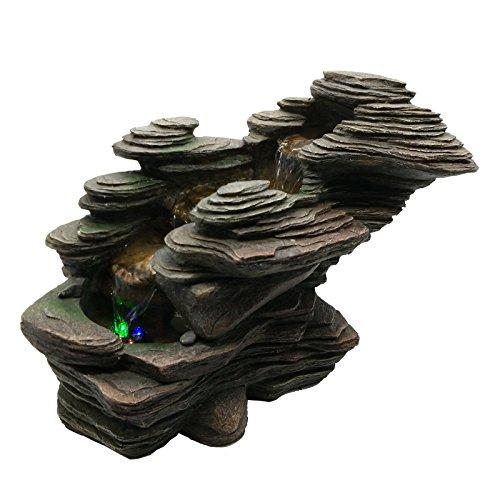 Zen'light scfr132 - fontana a torrente, pietra, 38 x 19 x 25 cm, colore: marrone