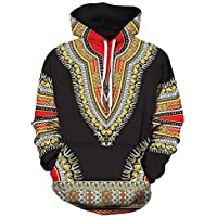 ☺Kapuzenpullover Liebhaber Herren Damen Sweatshirt Hoodies mit Kapuzen Sweatjacke Top Bluse Trainingsanzüge Sport Fitness Basic Pullover Langarmshirt Premium African 3D Druck Casual Männer Sweater