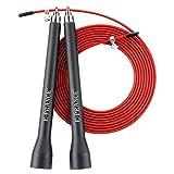 E-PRANCE 10ft Corde à sauter réglable Skipping rope pour Crossfit, Boxe, Fitness ,MMA,WODs avec câble roulements à billes en acier , grand vitesse