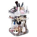 Prom-near Acryl Kosmetik Aufbewahrung Organizer 360 Grad Drehbarer Make Up Organizer Einstellbarer Kosmetikorganizer Multifunktionale Aufbewahrungsbox