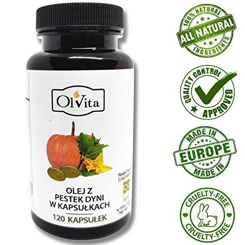 Ol'Vita: Capsules d'huile de graines de citrouille Vierge - 500 mg, non raffiné,...