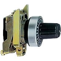 Schneider ZB4BD922 Potenziometer+Befestigungsflansch, Durchmesser 22, schwarz, Achslänge 6, 35mm
