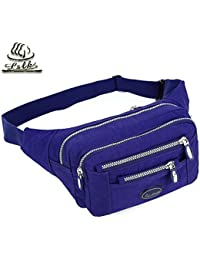 Buyworld Waist Pack Bag Men's Waist Pouch Casual Women's Fanny Pack Canvas Leisure Phone Bag Solid Money Belt...