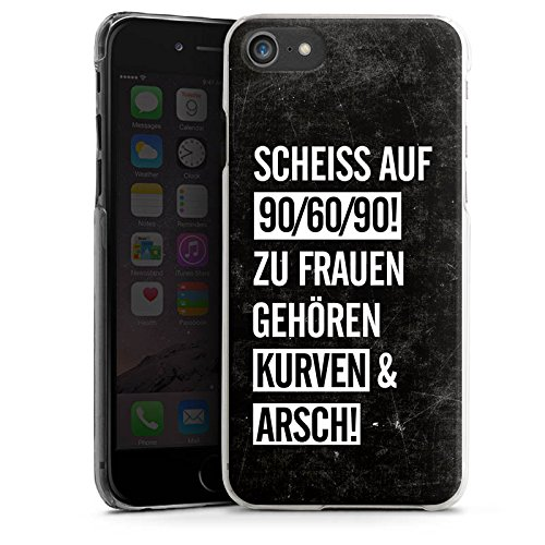 Apple iPhone X Silikon Hülle Case Schutzhülle Frauen Kurven Spruch Hard Case transparent
