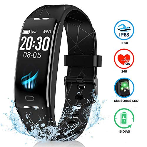 NAIXUES Pulsera Actividad Inteligente GPS, Pulsera Deportiva IP68, 7 Modos Deportes, Monitor...