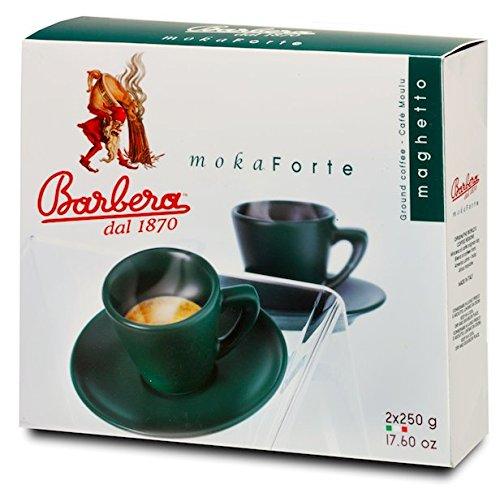 500gr von moka Forte gemahlener Doppelpack - 500gr von gemahlener Kaffee Barbera Kaffee Moka Forte...