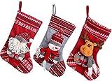 Sea Team Weihnachten Strumpf Beutel Weihnachtssocke Christmas Stocking A, 3-er Set