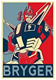 Instabuy Poster Propaganda - Robot Bryger - Formato A3 (42x30 cm)