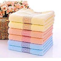PWTY 6 Unids / 1 Set 3 Colores Opcionales 100% Algodón Absorbente Suave Cómodo Hombres Mujeres Cuarto De Baño Toalla De Mano De Mano 34X74 Cm, 34X74 Cm