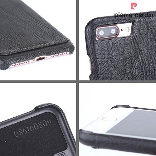 Coque iPhone 7 Plus, Pierre Cardin Hard Case Cover Retour haut de gamme de luxe en cuir véritable Slim pour Apple iPhone 7 Plus 5,5 Pouce - Brun Clair Brun Clair