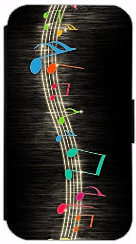 Kuna Flip Cover für Apple iPhone 5 / 5s Design K233 Abstract Bunt Hülle aus Kunst-Leder Handy Tasche Etui mit Kreditkartenfächern Schutzhülle Case Wallet Buchflip Rückseite Schwarz Vorderseite Bedruck K244