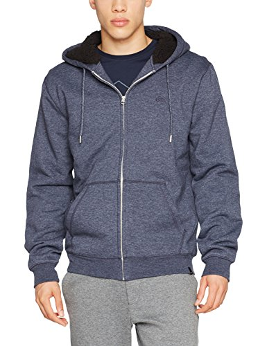 Quiksilver Everyday Sherpa Sweat-Shirt à Capuche Homme, Navy Blazer/Heather, FR : M (Taille Fabricant : M)