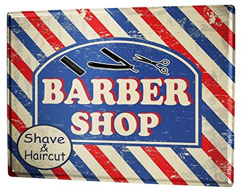 Cartel Letrero de Chapa Diversíon Tienda peluquero