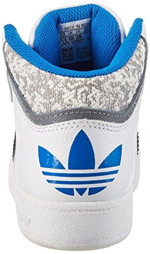 adidas Varial Mid, Scarpe da Ginnastica Alte Unisex – Bambini Bianco (Ftwr White/grey/bluebird)
