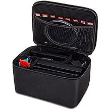 Funda de Nintendo Switch, funda de viaje HOPETO Bolsa de almacenamiento portátil más grande para consola Cargador Pro Controller y otros accesorios de Nintendo Switch