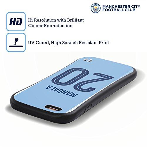 Ufficiale Manchester City Man City FC Nicolás Otamendi 2017/18 Giocatori Home Kit Gruppo 2 Case Ibrida per Apple iPhone 7 / iPhone 8 Eliaquim Mangala