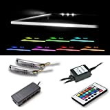 Kit de 3 pièce d'éclairage LED clip pour les tablettes en verre en RVB