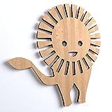 10x Löwe BabyTier blank Form Holz Basteln Bemalen Aufhängen Dekoration (V78)