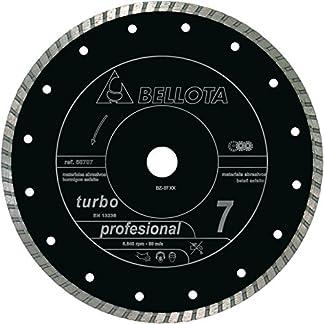 Bellota 50707-350 Disco Diamante Corte SECO Materiales ABRASIVOS Profesional 7 Turbo 350MM