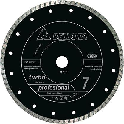 Bellota 50707-300 DISCO DIAMANTE CORTE SECO MATERIALES ABRASIVOS PROFESIONAL 7 TURBO 300MM