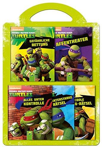 Teenage Mutant Ninja Turtles - 5 Minibücher im Set: Rätsel und Geschichten