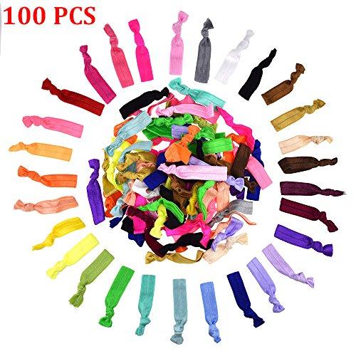 candorar-100-pcs-colourful-knotted-ribbon-ribbon-hair-ties-hair-band-ponytail-elastic-holders-hair-e