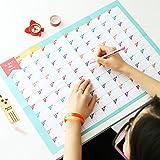 100Tage Countdown Kalender lernen Schedule Periodic Wochenplaner Tisch Geschenk für Kids Studie Planung lernen Supplies