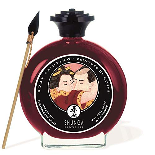 Body Paint-vernice corporea commestibile sapore Champagne E fragole 100ML.-shunga