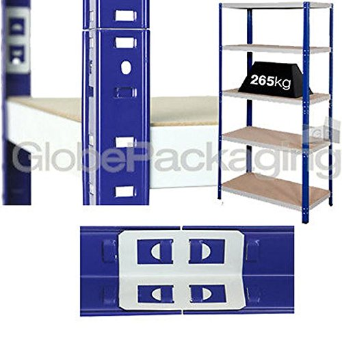 Best Saving for 4 x Heavy Duty Shelving Storage Racking 265 Kg For Warehouse Garage Office etc -1770x1200x600mm on Line