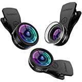 Mpow Fisheye Lens,3 in 1 Clip-On Lens Kits 180 Degree Fisheye Lens + 0.36X Wide Angle Lens + 20X Macro Lens with 3 Separate Lens for iPhone 7/6/6s Plus/5/SE LG HTC Huawei and Other Smartphone