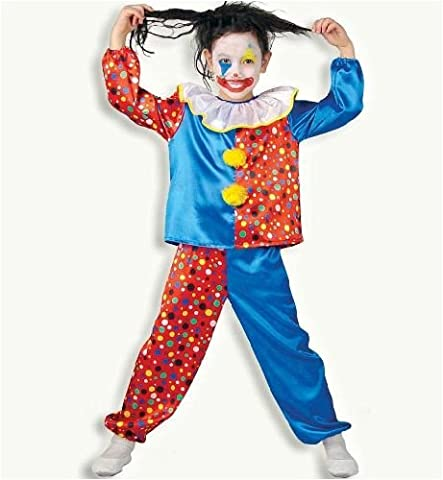 Clown Pünktchen 2tlg Kinder Kostüm Gr 164