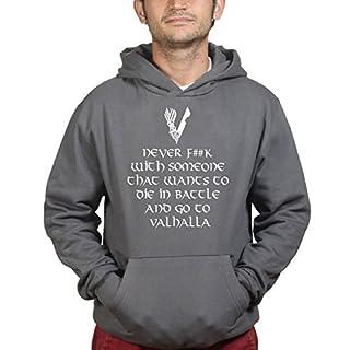 Never F**K With Valhalla Vikings Kapuzenpullover