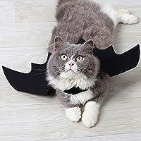 Magiin Alas de Murciélago Mascota Halloween Pet Bat Wings Disfraz de Gato Murciélago para Mascotas Perro Gato de Accesorios Alas Tela de Fieltro Negra para Halloween, Fiesta Temática,Cosplay