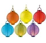 6 Farben LED Papierlaterne Lampion Lampions Laterne Garten Ballon Papierlampion