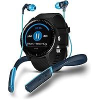 Garmin vivoactive 3Music Skullcandy Bundle–Montre Connectée avec GPS, Cardio au Poignet, Écran Touch Gorilla Glass à Couleurs et App Sport, Bundle Casque Bluetooth Skullcandy Method Sport–Noir