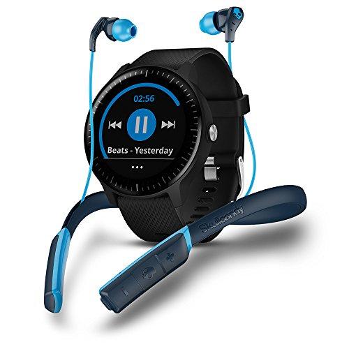 Garmin Vivoactive 3Music Skullcandy Bundle–Smartwatch mit GPS, Cardio Handgelenk, Bildschirm Touch Gorilla Glass A Farben und App Sport, Bundle Bluetooth Kopfhörer Skullcandy Method Sport–Schwarz
