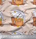 Soimoi Orange Viskose Chiffon Stoff Regenschirm, Schuhe &