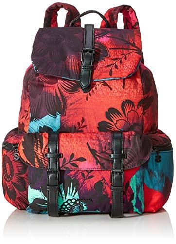 Desigual Damen Backpack Sinergia_tribeca modischer Rucksack, Rot (Rojo Loft), 36x15x29 cm