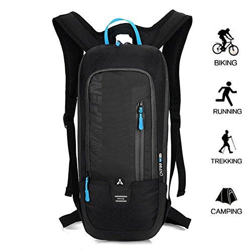 Ultra léger sac à dos de sport, étanche professionnel Petit Vélo Sac à dos avec, Messieurs Sac à dos outdoor de BLF, noir, 46 * 22 * 7 cm (Height * Width * Thickness)
