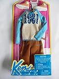 Barbie BCN66, Ken Mode Kleider Set, cooler Sweater, braune Shorts, Sportschuhe und Brille (EAN 9009588019764)