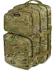 Wanderrucksack 50 Liter mit verstellbarem Schultergurt und Hüftgurt
