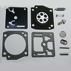 HIPA Kit Joints et Membranes Carburateur RB-122 pour Tronçonneuse Husqvarna 340 345 346 350 351 353 ZAMA C3-EL17 C3-EL17A C3-EL17B C3-EL18 C3-EL18A C3-EL18B C3-EL32