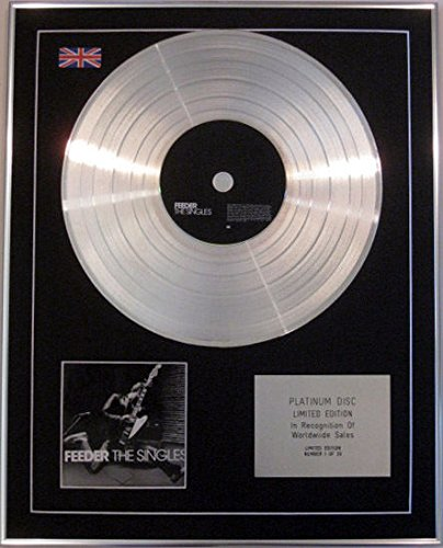 """Limited Edition CD FEEDER-Platinum-Asciugamano a disco """""""
