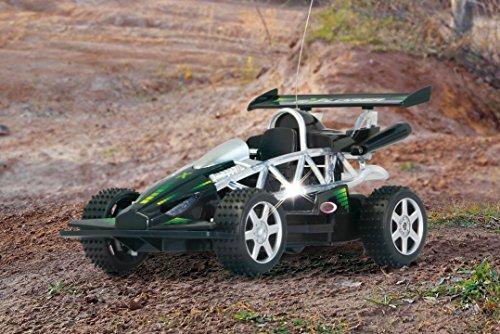 RC ferngesteuerter Buggy schwarz Explorer mit blinkender Rahmenbeleuchtung 1:14 RTR 40MHz
