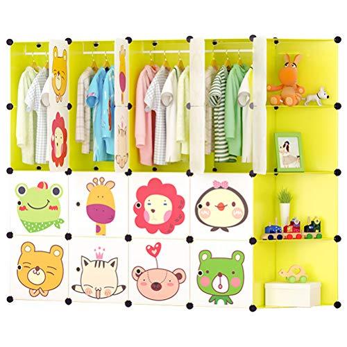 ARMOI Kinderregal Kinder Kleiderschrank für Kinderzimmer Schränke Kunststoff Regale...