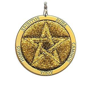 Pentagramm Bernstein Amulett zum Schutz - handgemachte Charme, spirituelle, Pagan, Wicca