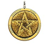 Amulette ambre pentagramme pour la protection - charme fait à la main, spirituel, païen, Wicca