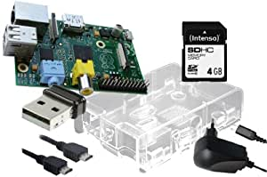 Raspberry Pi Model B W-LAN Bundle Transparent Mini PC-System/Mediaplayer