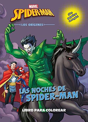 Spider-Man. Los orígenes. Las noches de Spider-Man. Libro para colorear: ¡Con pegatinas de regalo! por Marvel